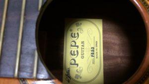 ARIA PEPE PS53のラベル