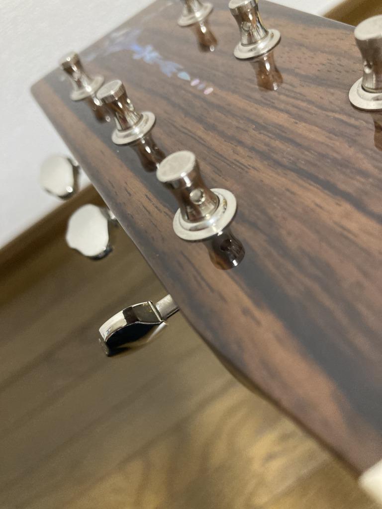 アコギの弦交換 ヘッド側のペグ穴の向きを直す