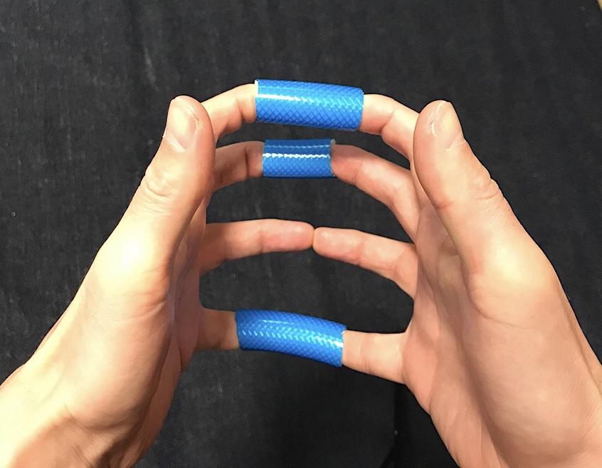 ギタリストのための薬指トレーニング 下から見た絵
