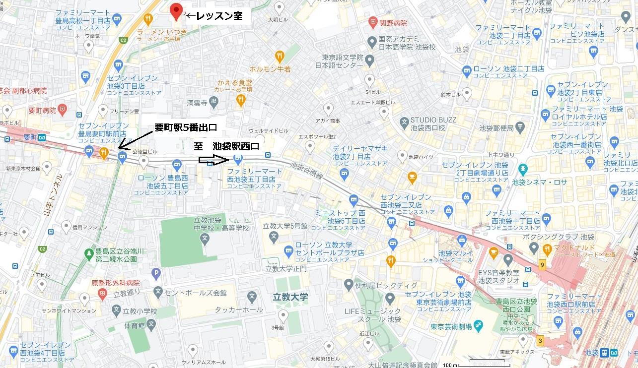 レッスン室 地図