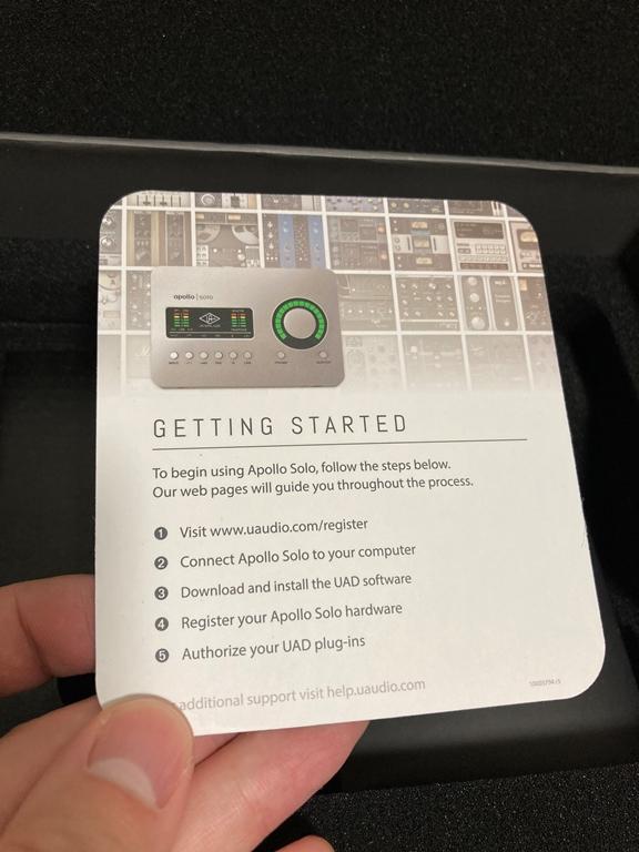 Apollo Solo USB 説明カード